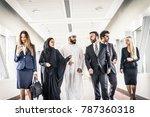 multiethnic group of... | Shutterstock . vector #787360318