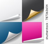 page curl with shadow isolated. ... | Shutterstock .eps vector #787363654