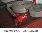 fire hoses on the table | Shutterstock . vector #787363930