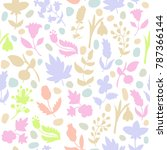 floral seamless pattern.... | Shutterstock .eps vector #787366144