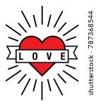 heart love vector file | Shutterstock .eps vector #787368544