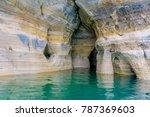 Amazingly beautiful Pictures Rocks National Lake Shore in Upper Peninsula Michigan, along Lake Superior.