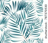 pattern of tropical palm ... | Shutterstock .eps vector #787370530