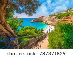 stairs leading to the porto... | Shutterstock . vector #787371829