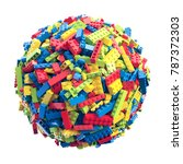 sphere made of random colored... | Shutterstock . vector #787372303