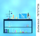 scientific laboratory concept... | Shutterstock .eps vector #787374736