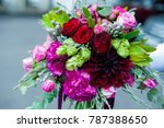 unusual wedding stylish bouquet ... | Shutterstock . vector #787388650