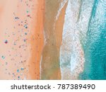 dee why beach aerial waves | Shutterstock . vector #787389490