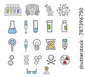 line art lab icons design in... | Shutterstock .eps vector #787396750