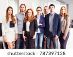small business team in their... | Shutterstock . vector #787397128