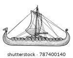 viking ship illustration ...   Shutterstock .eps vector #787400140