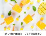 ice cream  popsicles. organic... | Shutterstock . vector #787400560