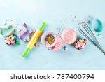 sweet baking concept for easter ...   Shutterstock . vector #787400794