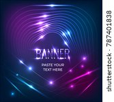 banner background template with ... | Shutterstock .eps vector #787401838