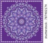 mandala ultra violet vector ... | Shutterstock .eps vector #787402174
