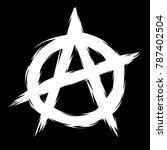 anarchy symbol vector | Shutterstock .eps vector #787402504