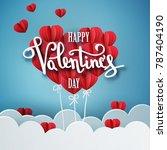 happy valentines day vector... | Shutterstock .eps vector #787404190