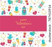 valentine's day card  banner ... | Shutterstock .eps vector #787410916