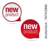 new product label tag sign | Shutterstock .eps vector #787413880