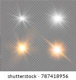 white glowing light burst... | Shutterstock .eps vector #787418956