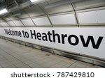 heathrow  england  30 dec 2017  ... | Shutterstock . vector #787429810
