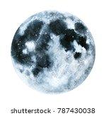 big watercolor moon... | Shutterstock . vector #787430038