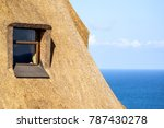 detail of a thatched roof house ... | Shutterstock . vector #787430278