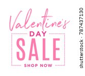 valentine's day special offer... | Shutterstock .eps vector #787437130