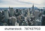 manhattan  new york skyline of... | Shutterstock . vector #787437910