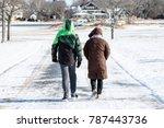 couple walking during winter   Shutterstock . vector #787443736