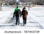 couple walking during winter   Shutterstock . vector #787443739