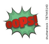 comic boom oops icon. flat... | Shutterstock .eps vector #787445140