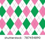 pink and green argyle background | Shutterstock .eps vector #787454890