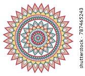 ethnic ornamental mandala.... | Shutterstock . vector #787465243