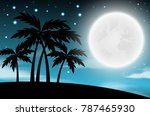 nighttime sky background with... | Shutterstock .eps vector #787465930