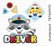 funny taxi driver cartoon... | Shutterstock .eps vector #787469470