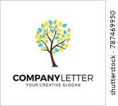 company logo  nature logo | Shutterstock .eps vector #787469950