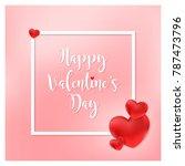 valentines day vector... | Shutterstock .eps vector #787473796