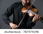 musician man playing the violin.... | Shutterstock . vector #787474198