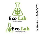 modern creative eco lab logo... | Shutterstock .eps vector #787474753