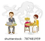 secondhand smoke issue   public ...   Shutterstock .eps vector #787481959