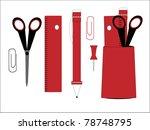 office  education vector   Shutterstock .eps vector #78748795