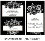 romantic invitation. wedding ... | Shutterstock . vector #787488394