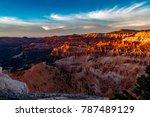perfect sunset on cedar breaks... | Shutterstock . vector #787489129