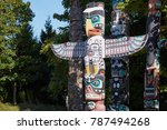 historic first nations totem... | Shutterstock . vector #787494268