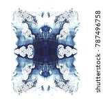 cards of rorschach inkblot test.... | Shutterstock . vector #787496758