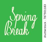 handwritten text  spring break | Shutterstock .eps vector #787501183