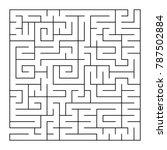 isolated large labyrinth. black ... | Shutterstock .eps vector #787502884