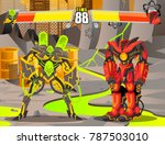 robot battle fighting videogame ...