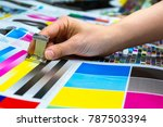 printing thread counter being... | Shutterstock . vector #787503394